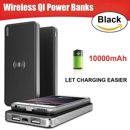 10000mAh Portable Wireless Charger Power Bank by ToullGo
