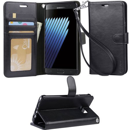 ARAE Samsung Galaxy Note 7 wallet Case with Kickstand