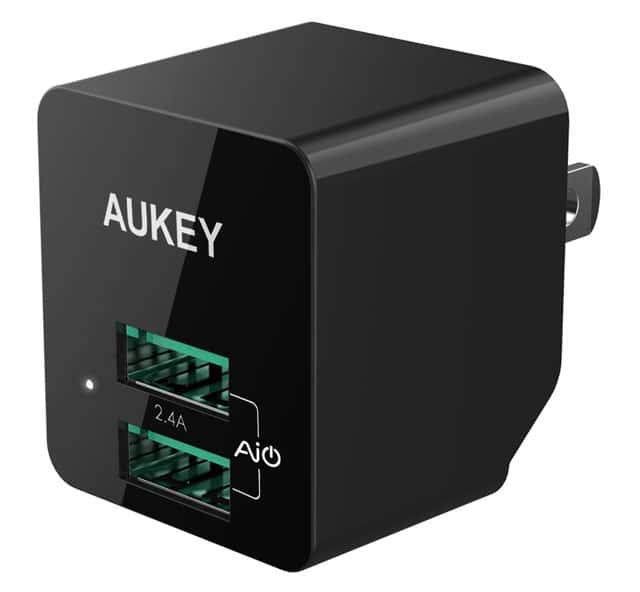AUKEY 12W Dual Port Home Travel USB Wall Charger