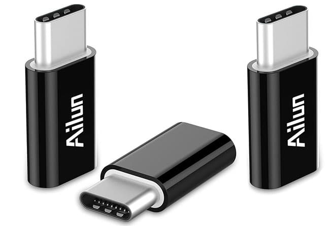 Ailun Type C Adapter, Micro USB to USB C Adapter, [3Pack]