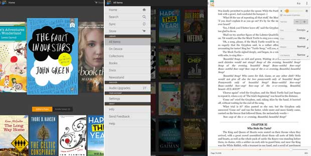 Amazon Kindle - Android App for Tablets