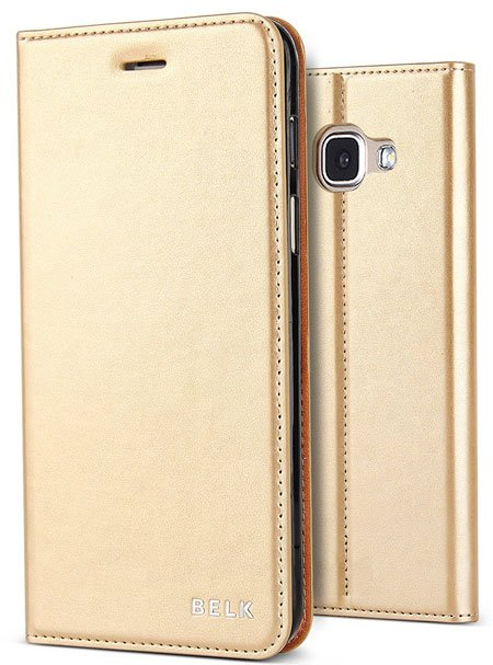 BELK Premium Luxury PU Leather Wallet Case for Samsung Galaxy A7 2017