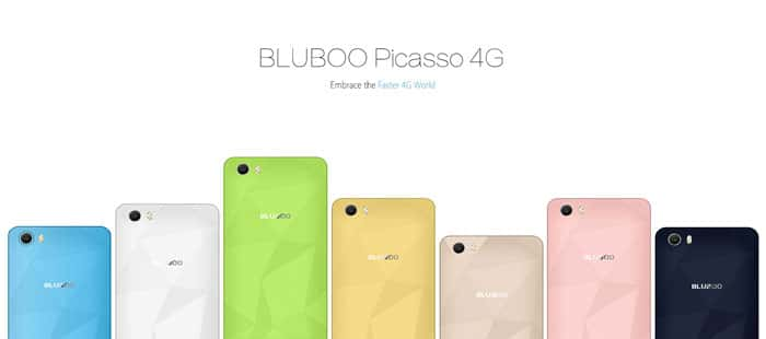 Bluboo Picasso 4G Smartphone Design and Colors