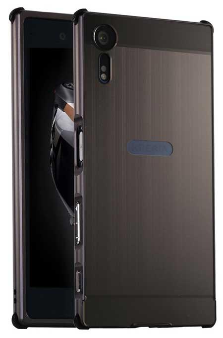 DAMONDY Luxury Ultra-thin Metal Brushed Xperia XZs Case