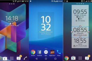 Digital Clock Widget Xperia - Clock Widgets for Android