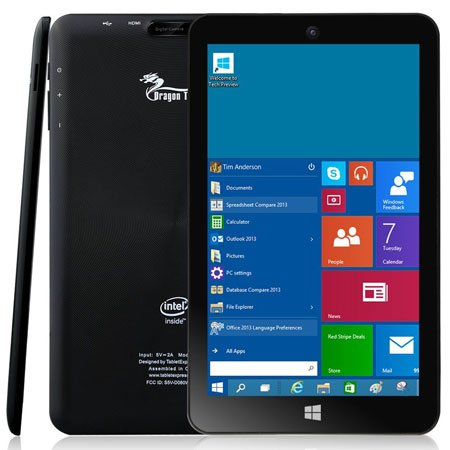 "Dragon Touch i8 Pro 8"" Windows 10 Tablet"