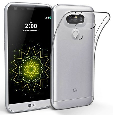 EasyAcc LG G5 Soft TPU Clear Case