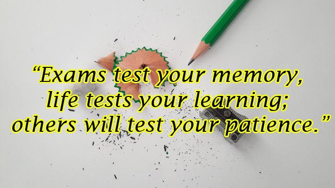 Exam Tension Images with Quotes WhatsApp DP
