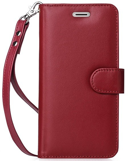 FYY Genuine Leather 100% Handmade Wallet Case Cover for LG G6