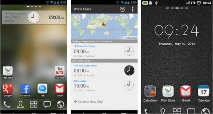 Go Clock Widget - Free Clock Widget