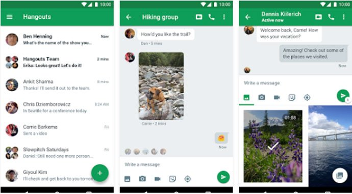 Google Hangouts - Secure WhatsApp Alternative