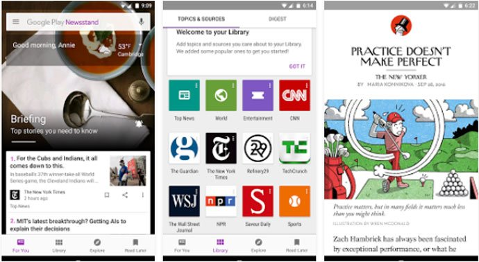 Google Play Newsstand - Android Magazine App
