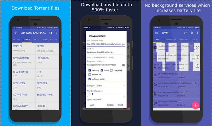 IDM - Free Downloader App for Android