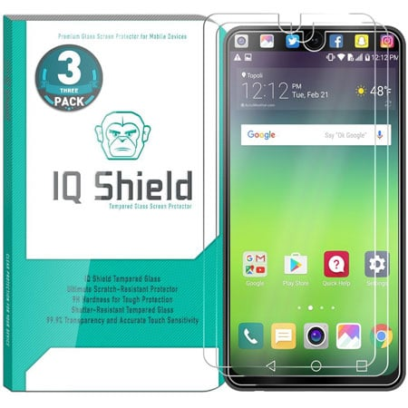 IQ Shield Tempered Ballistic Glass Screen Protector for LG V30