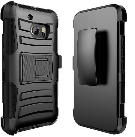 JATEN Rugged Hybrid Dual Layer Kickstand Holster Combo Case for Bolt