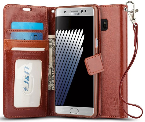 J&D Flip Wallet Case for Samsung Galaxy Note 7