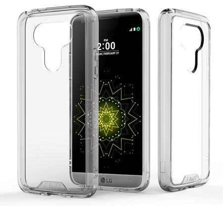 J&D Crystal Clear LG G5 Bumper Case