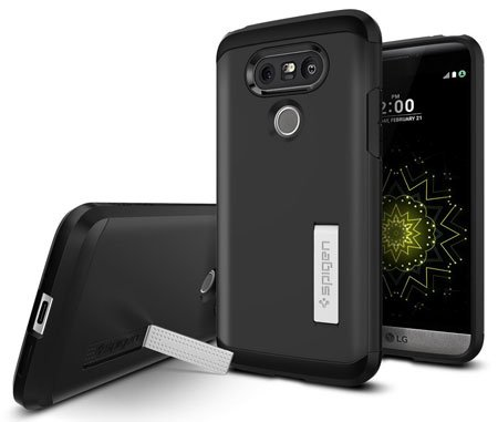 LG G5 Accessories - Spigen® Case for LG G5 with Kickstand