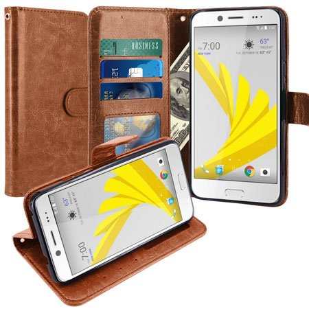 LK Leather Wallet Flip Protective Case Cover for HTC Bolt