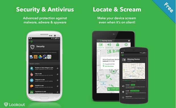 Lookout Security & Antivirus - best free Android antivirus app