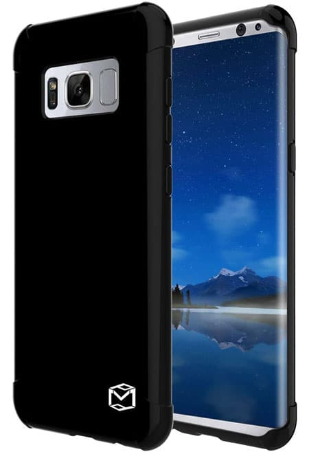 MP-Mall [Slim Fit] [Shockproof] Silicone Protective Case for Samsung S8