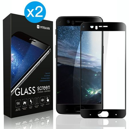 [2-Pack] MYRIANN Full Coverage Tempered Glass Screen Protector for OnePlus 5