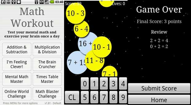 Math Workout - Free Brain Training App for Android
