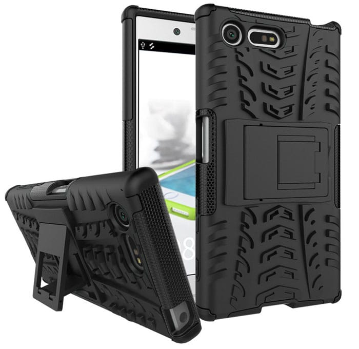 MicroP Dual Layer Hybrid Kickstand Case for Xperia X Compact