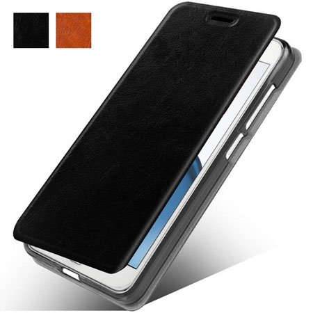 MicroP Slim Folio Leather Case for OnePlus 5