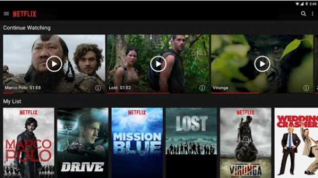 Netflix - Android App for Tablet