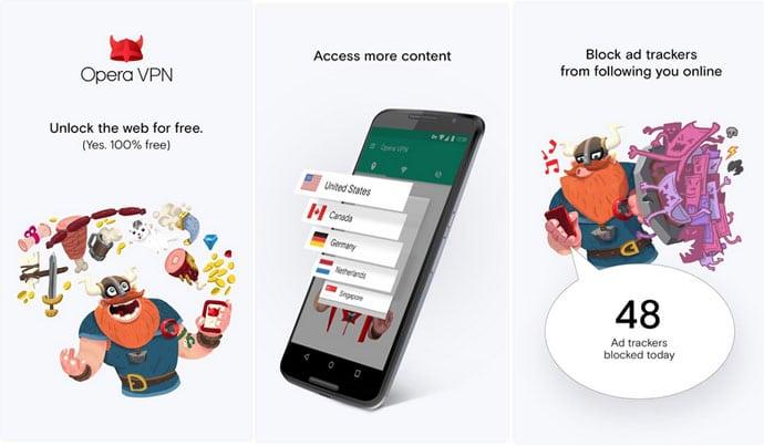 Opera Free VPN - The Best Free VPN