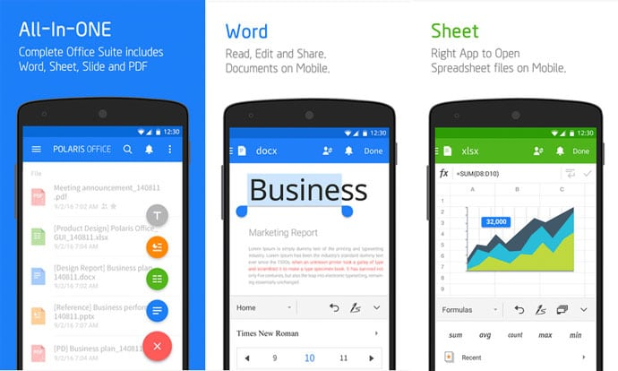 10 best free office app for android to make your job easier in 2017 - Office apps for android free ...