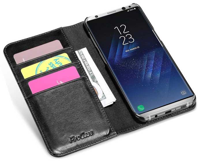 ProCase Galaxy S8+ S8 Plus Genuine Leather Case