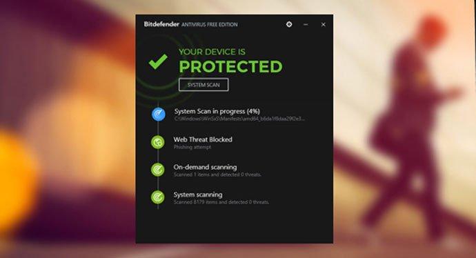 Protected with Bitdefender Antivirus Plus