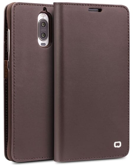 QIALINO Slim Genuine Leather Cover for Mate 9 Pro