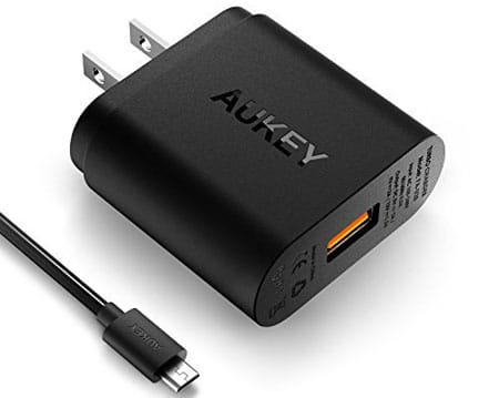 Quick Charge 2.0 AUKEY Wall Charger for HTC Bolt