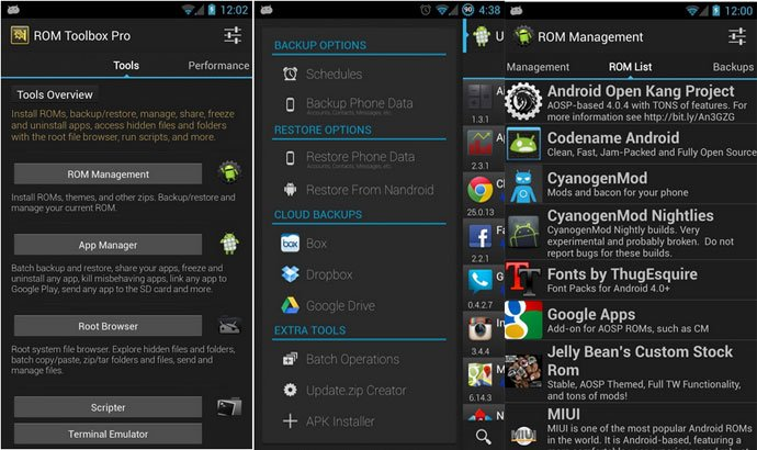 ROM Toolbox Lite - New Apps for Rooted Android