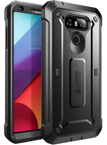 SUPCASE Rugged Holster Case with Built-in Screen Protector for LG G6
