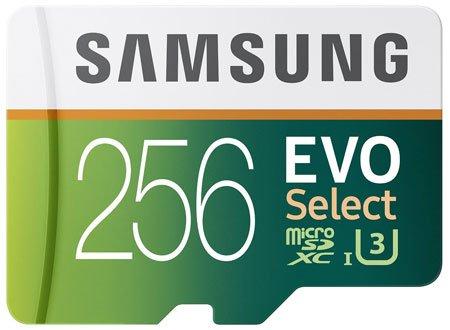 Samsung EVO Select Micro SDXC Memory Card, 256GB