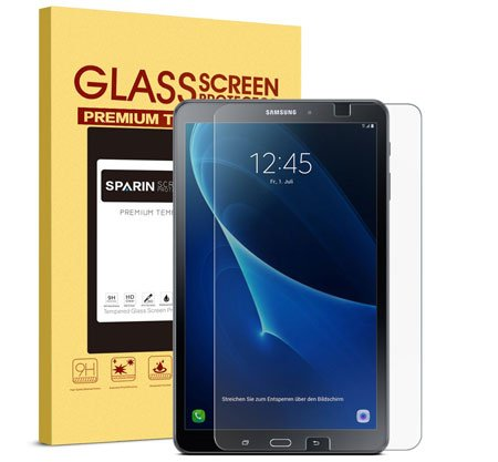 Samsung Galaxy Tab A 10.1 Screen Protector [.3mm / 2.5D] [Tempered Glass], SPARIN