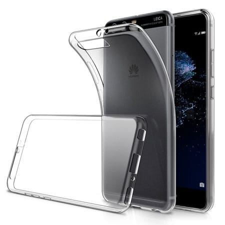 Simpeak Soft TPU Transparent Protector Back Case for Huawei P10 Plus