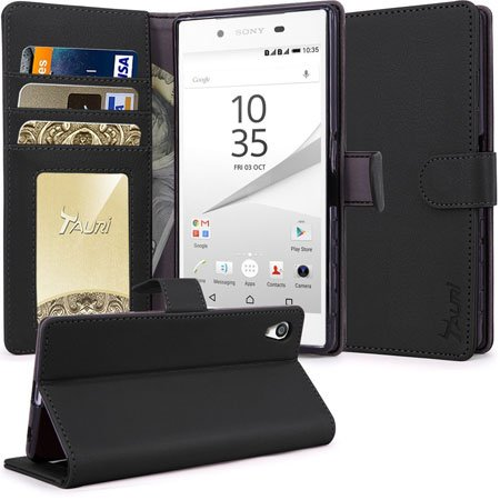 Tauri [Stand Feature] Premuim Protective Wallet Leather Cover for Z5
