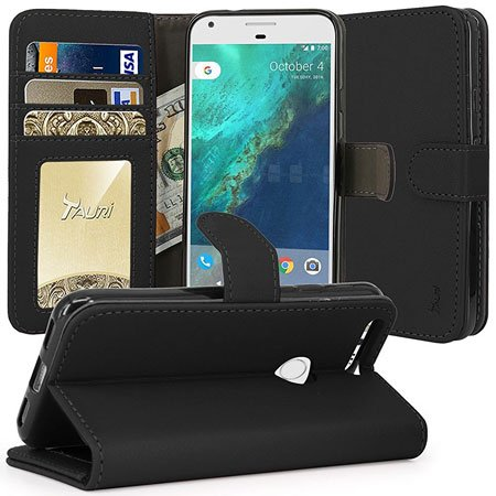 Tauri Wallet Leather Case for Google Pixel