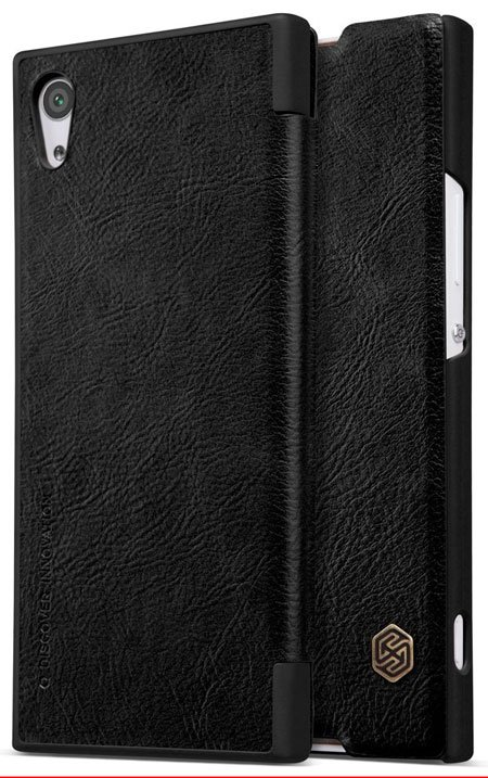 TopACE Leather Case Flip Cover for Sony Xperia XA1