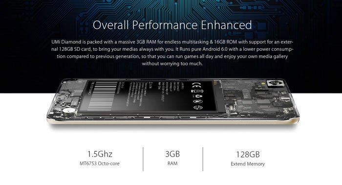 UMi Diamond 4GB Smartphone Hardware and Performance