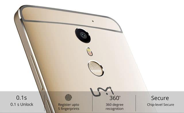 Umi Max 4G Phablet Fingerprint Sensor