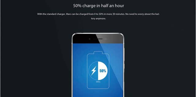 Vernee Mars 4G Phablet with quick charging technology
