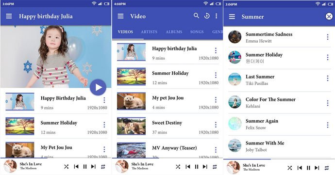 Video Player by Music and Video
