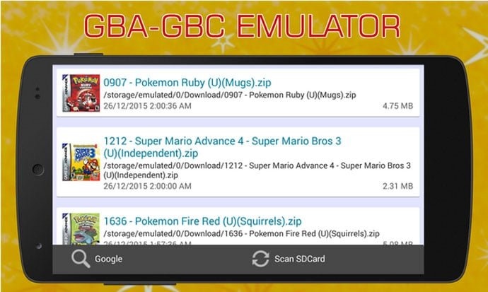 VinaBoy Advanced – GBA Emulator