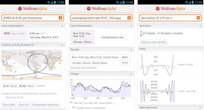 Wolfram - Free Android Education App